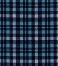 Quilter\u0027s Flannel Fabric 43\u0022-Grunge Plaid Blues