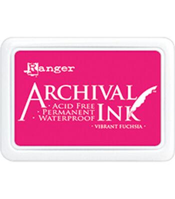 Ranger Archival Ink Pad #0-Vibrant Fuchsia