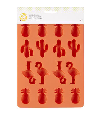 Wilton 6.33''x8.56'' 16-cavity Silicone Candy Mold-Coral Tropical