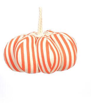 Maker's Halloween Large Pumpkin-Orange Stripes
