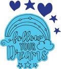 Sizzix Framelits Katelyn Lizardi Die & Stamp Set-Follow Your Dreams