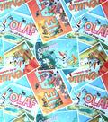 Disney Frozen Olaf Postcards Toss Sheer Fabric