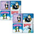 Carson Dellosa Penguins Motivational Stickers, 120 Per Pack, 12 Packs