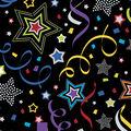 Celebration Cotton Fabric-Dot Stars & Streamers