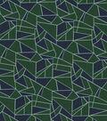 Quilter\u0027s Showcase Cotton Fabric 44\u0022-Green Navy Mosaic Blender
