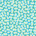 Keepsake Calico Cotton Fabric-Packed Daisies on Teal