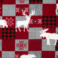 Super Snuggle Flannel Fabric-Moose & Stag Patchwork