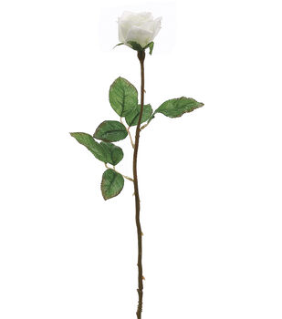 """Bloom Room 21"""" Single Rose Bud-Cream"""
