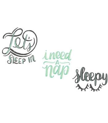 Cricut Small Iron-On Design-Let's Sleep In, I Need a Nap, Sleepy