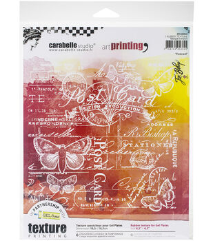 Carabelle Studio Art Printing Square Rubber Texture Plate Postcard