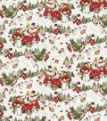 Christmas Cotton Fabric 44\u0022-Scenic Snowman Truck