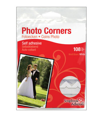 Scrapbook Adhesives 1/2'' Classic Photo Corners-108PK