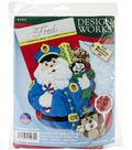 Policeman Santa Stocking Felt Applique Kit 18\u0022 Long