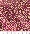 Legacy Studio Batik Fabric 44\u0022-Medallions on Fuchsia