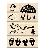 Inkadinkado Baby Shower Mounted Stamp Set, , hi-res