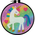 Dimensions Learn-A-Craft Felt Applique Stitch Kit-Unicorn