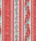 Christmas Cotton Fabric 44\u0022-Holiday Flourish Stripes