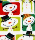 Maker\u0027s Holiday Fleece Fabric 59\u0022-Snowmen