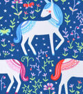 Snuggle Flannel Fabric -Princess Unicorns
