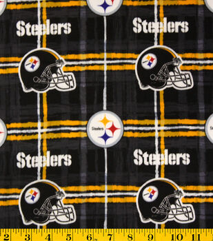 Pittsburgh Steelers Flannel Fabric -Plaid