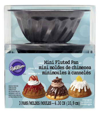 Wilton Non-Stick Mini Fluted Pan Set 3-ct.