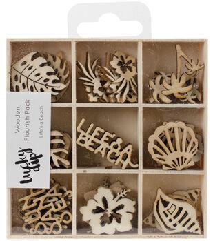 Themed Mini Wooden Flourishes-Life's A Beach