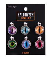 hildie & jo Halloween Jewelry 6 pk Resin Eye Charms, , hi-res