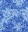 Anti-Pill Fleece Fabric -Blue Petals