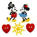 Jesse James Dress It Up Disney Button Embellishments-Steamboat Willie