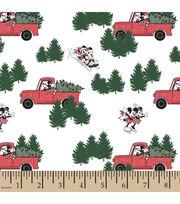 Disney Mickey & Minnie Cotton Fabric-Christmas Tree, , hi-res