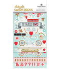 Paper House Sticky Pix Pack of 170 Cardstock Stickers-It Takes Two