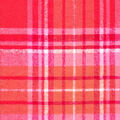 Snuggle Flannel Fabric-Distressed Beetroot & Coral Plaid