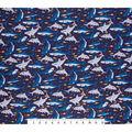 Super Snuggle Flannel Fabric-Happy Shark Friends
