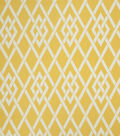 Home Decor 8\u0022x8\u0022 Fabric Swatch-Eaton Square Sherry   Gold Lattice
