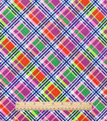 Snuggle Flannel Fabric -Bright Bias Plaid
