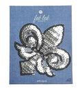Fab Lab 4.87\u0027\u0027x3.87\u0027\u0027 Sequin Fleur De Lis Iron-on Applique Patch