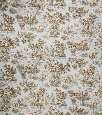 "Home Decor 8""x8"" Fabric Swatch-Jaclyn Smith Cleo  Robins Egg"