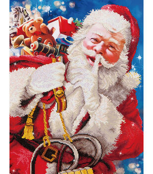 "Diamond Embroidery Facet Art Kit 37.2""X43.5""-Santa's Secret"
