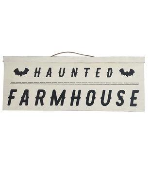 Maker's Halloween 36''x9.06'' Wall Decor-Haunted Farmhouse