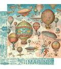 Imagine Double-Sided Cardstock 12\u0022X12\u0022-Up & Away