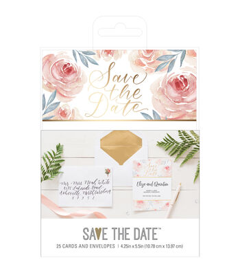 American Crafts Floral Save the Date Cards