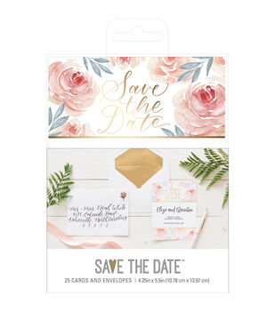 Save the Date 4.25''x5.5'' Cards & Envelopes-Floral