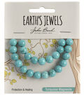 Earth\u0027s Jewels Semi-Precious Round 8mm Beads-Turquoise Magnesite