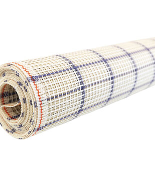 Zweigart 60''x10 yds Mesh Rug Canvas Roll-Blue Checked