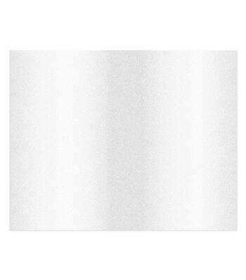 Poster Board-White Glitter