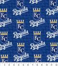 Kansas City Royals Cotton Fabric 58\u0022-Glitter