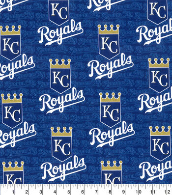 "Kansas City Royals Cotton Fabric 58""-Glitter"