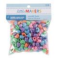 Little Makers Heart Beads-Iridescent Mixed Pastel