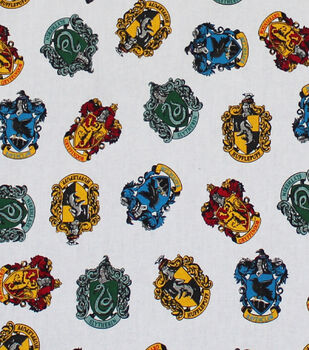 "Harry Potter Quilt Cotton Fabric 44""-Hogwarts Houses"
