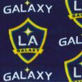 LA Galaxy Fleece Fabric -Logo